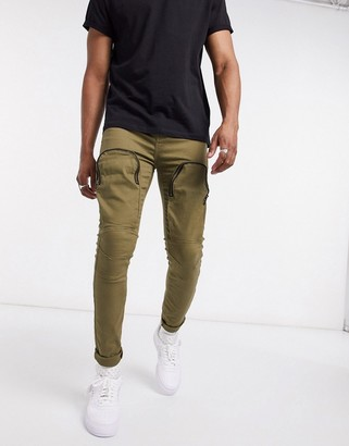 Sixth June jeans with front pockets in khaki