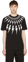 Neil Barrett Black Fairisle Thunderbolt T-Shirt