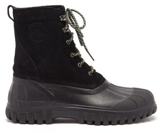 Diemme Anatra Suede And Rubber Boots - Black