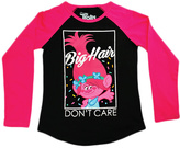 Freeze Trolls Black 'Big Hair' Long-Sleeve Tee - Girls