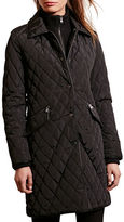 Lauren Ralph Lauren Quilted Faux-Leather Trim Jacket