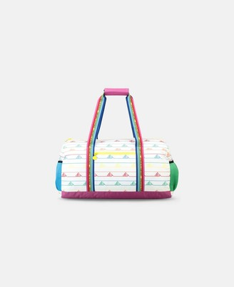 Stella McCartney sport bag with rainbow logo tape