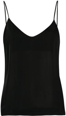 Isabel Benenato V-neck silk top