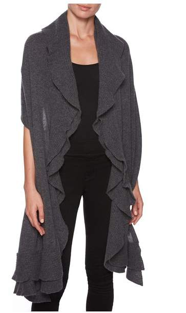 Magaschoni Double Layer Ruffle Wrap