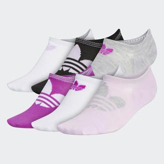 adidas Trefoil Superlite No-Show Socks 6 Pairs