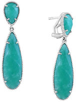 Effy 925 Sterling Silver and Amazonite Drop Earrings