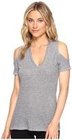 Lanston Cold Shoulder V-Neck Tee Women's T Shirt