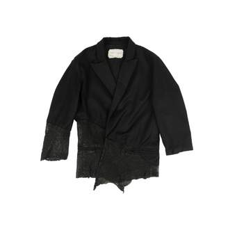 Greg Lauren Black Wool Coats