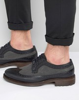Dune Bongle Leather Derby Brogue Shoes