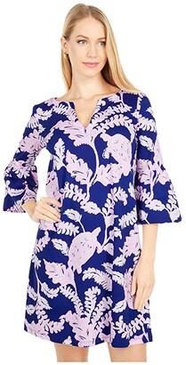 Lilly Pulitzer Tosha Dress (Galaxy Blue What The Shell) Women's Dress