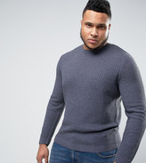 Asos PLUS Cable Knit Sweater with Rib Detail