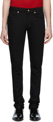 Versace Black Embroidered Barocco Jeans