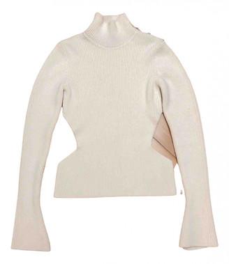 David Koma White Wool Knitwear