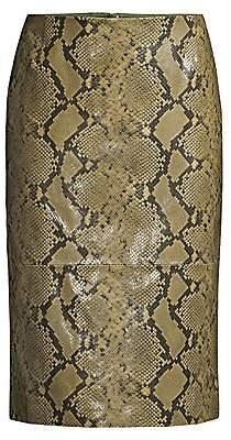 Lafayette 148 New York Women's Casey Stretch Snake-Print Pencil Skirt
