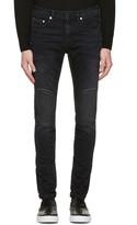 Neil Barrett Grey Washed Biker Jeans