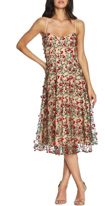 Dress the Population Janice Embroidered Fit & Flare Dress