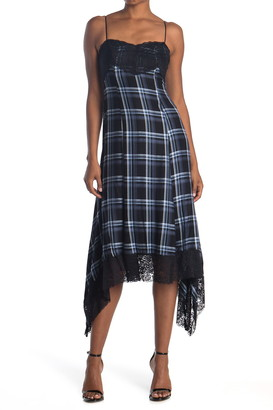 LIKELY Rhea Lace Plaid Dress