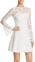 Aqua Lace Bell-Sleeve Dress