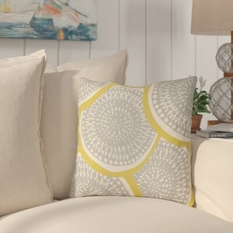 """Tommy Indoor / Outdoor Geometric Throw Pillow Highland Dunes Size: 18"""" H x 18"""" W 1"""" D, Color: Lime Green/Dark Green"""