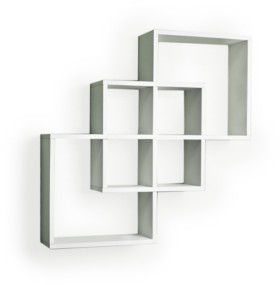 Danya B Intersecting Squares Decorative Wall Shelf