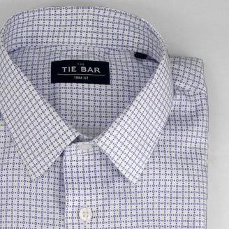 The Tie Bar Printed Circles Sky Blue Shirt