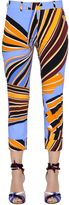 Emilio Pucci Printed Stretch Cotton Poplin Pants