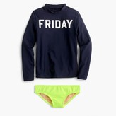 "J.Crew Girls' ""Friday"" rash guard set"