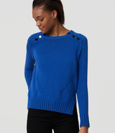 LOFT Shoulder Button Sweater