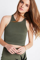 BCBGeneration Racerback Crop Top - Green
