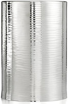 Hotel Collection Polished Hammered Metal Trash Can
