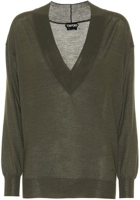 Tom Ford V-neck cashmere and silk sweater