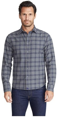 Untuckit UNTUCKit Heavyweight Flannel Lucca Shirt (Grey) Men's Clothing