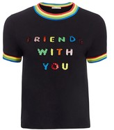 Alice + Olivia Friends With You x Rylyn Embellished Ringer Tee