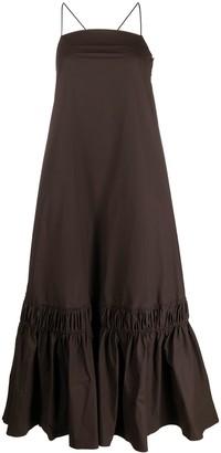 Jil Sander Ruffle-Hem Long Dress
