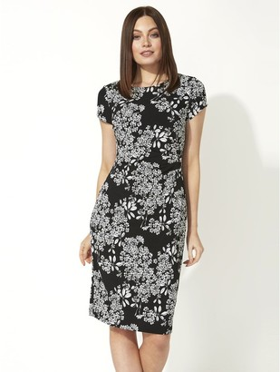 M&Co Roman Originals oriental floral textured dress