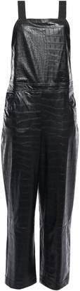 Nanushka Frank Croc-effect Vegan Leather Jumpsuit