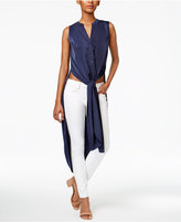 Bar III Split Maxi Tunic Shirt, Only at Macy's