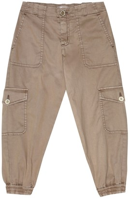 BRUNELLO CUCINELLI KIDS Stretch-cotton tapered pants