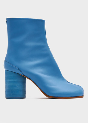 Maison Margiela Women's Tabi Boot in Blue Turquoise, Size 36 | Leather