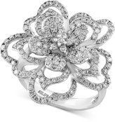 Effy Final Call Diamond Flower Ring (1-1/3 ct. t.w.) in 14k White Gold