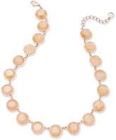 Charter Club Rose Gold Tone Pink Stone Necklace, Only at Macy's