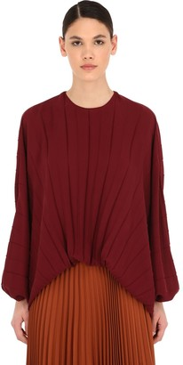 Valentino Pleated Silk Georgette Balloon Top