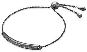 Michael Kors Pave Plaque Slider Bracelet in Sterling Silver, 14K Gold-Plated Sterling Silver, 14K Rose Gold-Plated Sterling Silver or Black Ruthenium-Plated Sterling Silver