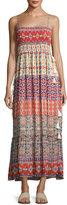 Love Sam Tassel-Trim Smocked-Bust Midi Dress, Multi Pattern