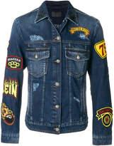 Philipp Plein patch denim jacket
