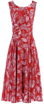 Jolie Moi Printed Fit & Flare Dress