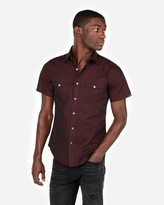 Express Chambray Two-Pocket Short Sleeve Shirt