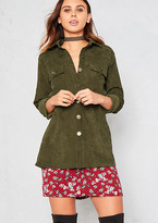 Missy Empire Julia Green Cord Collard Shacket