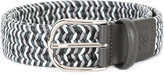 Canali braided elastic belt - men - Leather - 85