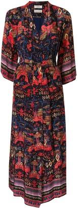 CHUFY Nazca-print long robe